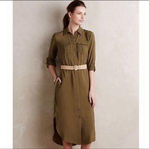 Maeve Olive Green Utility Dress